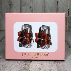 JUDITH RIPKA Poinsettia Salt & Pepper Shakers